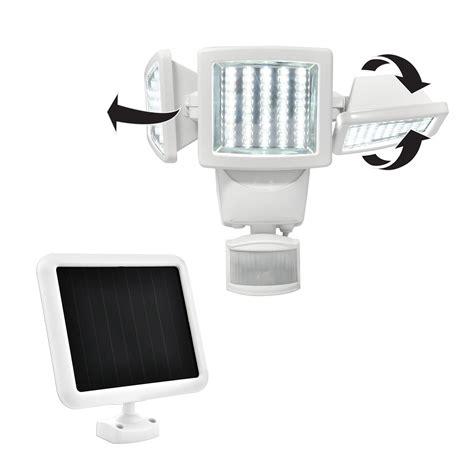 1000 lumen solar security light sunforce 150 led triple head solar motion activated