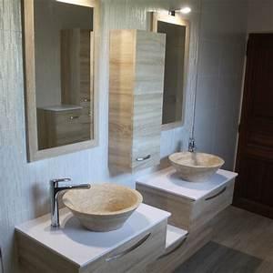 Miroir Meuble Salle De Bain : meubles de salle de bain contemporain atlantic bain ~ Teatrodelosmanantiales.com Idées de Décoration