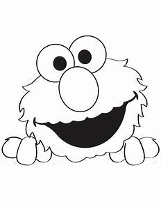 free coloring pages of elmo stencil With elmo pumpkin template