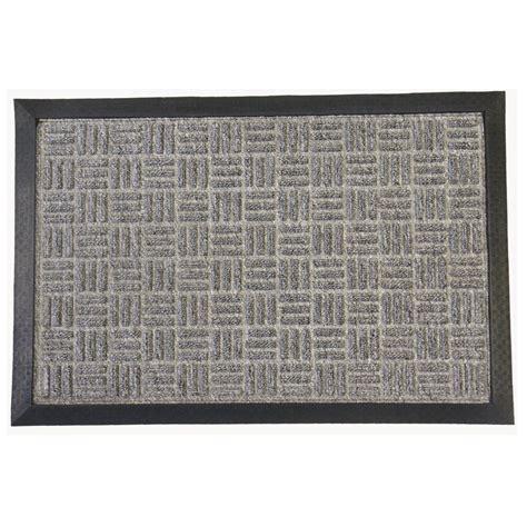24 X 60 Doormat by Rubber Cal Wellington Carpet Doormat Gray 24 In X 36 In