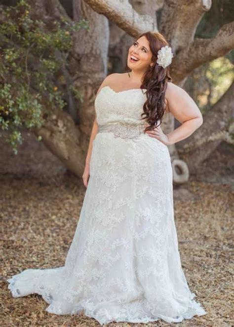 stunning 2016 plus size lace wedding dresses garden sash a