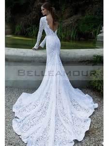 robe longue invitã mariage the makeup robe de mariée de luxe dentelle longue blanche manche sirène taîne longue nudité