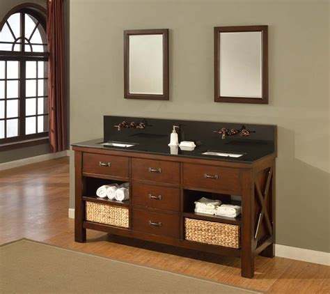 """70"""" Mission Double Bathroom Vanity Sink Console. Direct to"""