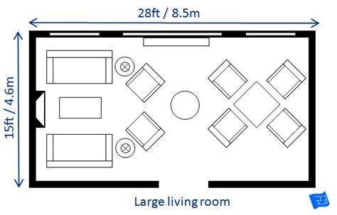 12 seater dining table living room size