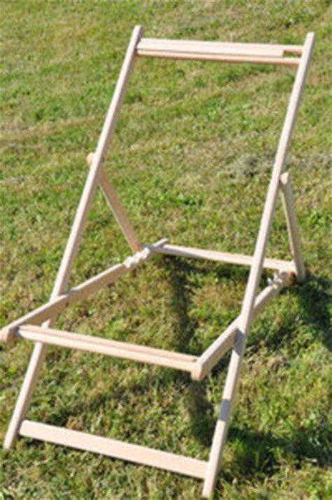 chaise longue en bois et toile structure pour chilienne transat en bois sans toile trs