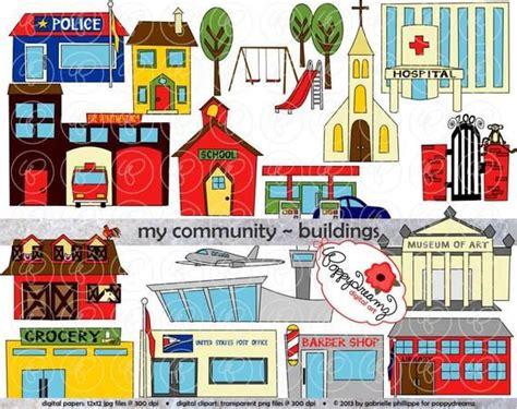 My Community Buildings Clipart: 300 dpi transparent png ...