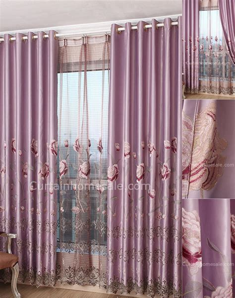 heavy purple polyester living room luxury curtains and drapes