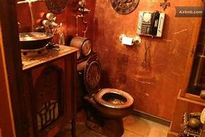17 best images about house steampunk bathroom on With best brand of paint for kitchen cabinets with toilet paper roll wall art pinterest
