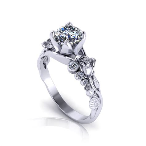 rose engagement ring jewelry designs