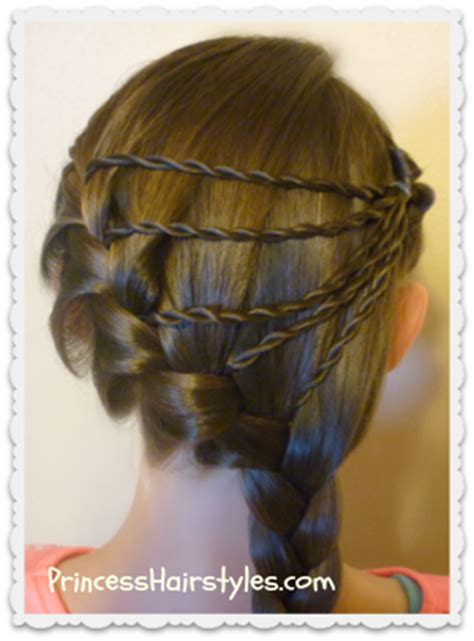 shooting star braid hairstyle hairstyles  girls