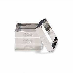Cadre Inox Pour Plaque Vitroceramique : 4 cadres tarte 8 cm en inox avec recette moules et ~ Premium-room.com Idées de Décoration