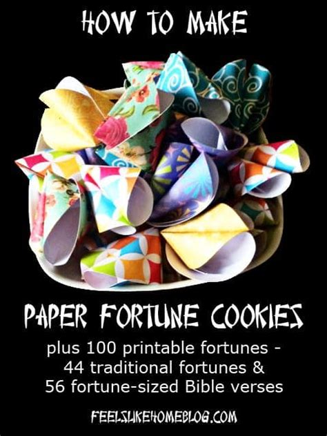 paper fortune cookie tutorial feels  home