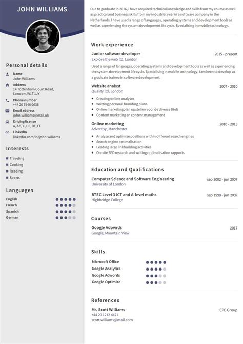 How To Make A Professional Cv Exles by Create A Professional Cv Easy With Our Cv