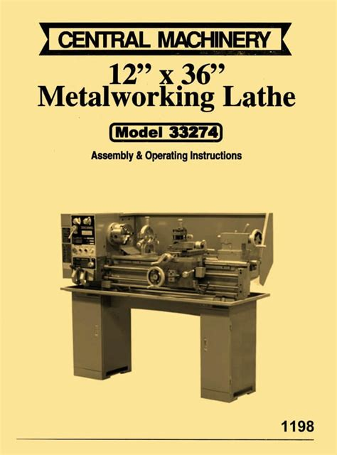 central machinery asian   metal lathe model