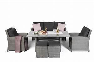 Gartenmöbel Rattan Grau : lucy rattan lounge gartenm bel tisch set mix grau ~ Watch28wear.com Haus und Dekorationen