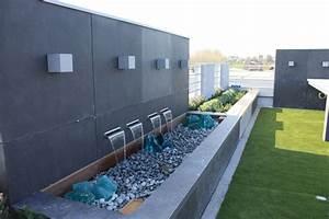 Beton Pflanzkübel Als Mauer : sichtschutz mauer optik garten im quadrat sichtschutz wand aus fiberglas moderne beton optik f ~ Udekor.club Haus und Dekorationen