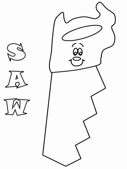 Coloring Pages Construction Tools Tool Saw Mechanic