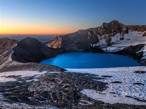beautiful snow mountain lake bing wallpaper preview