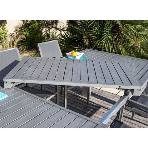 table de jardin extensible fiero en aluminium 180 240x103xh73cm proloisirs