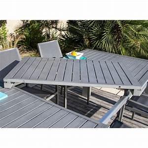Table Aluminium Extensible : table de jardin extensible fiero en aluminium 180 240x103xh73cm ice proloisirs ~ Teatrodelosmanantiales.com Idées de Décoration