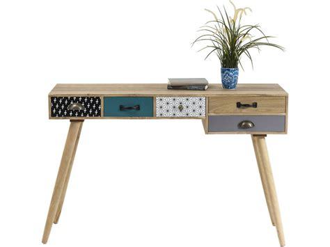 bureau console pas cher console bureau scandinave couleur 5 tiroirs meuble