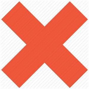 Cancel, close, delete, exit, remove, trash, x cross icon ...