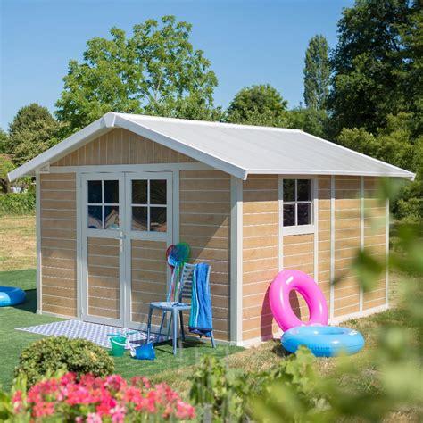 grosfillex abri de jardin en pvc 11 2m deco sherwood kit