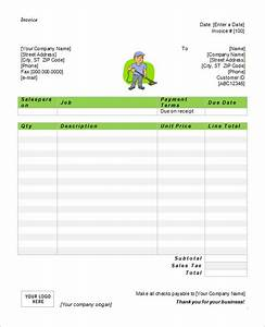 cleaning invoice template word invoice example With janitorial invoice template