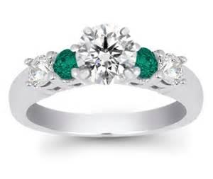 emerald gemstone engagement rings gemstone engagement ring emerald and gemstone ring in white gold eawedding