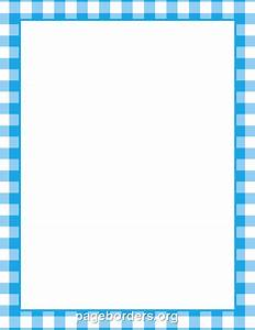 Blue Gingham Border: Clip Art, Page Border, and Vector ...