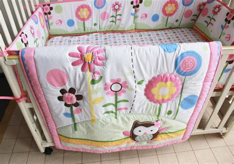 Promotion! 7pcs Baby Bedding Set Embroidered Baby Boy Crib