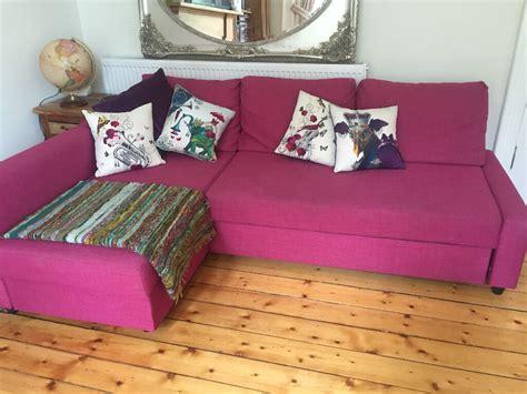 limited edition bright pink corner sofa bed ikea