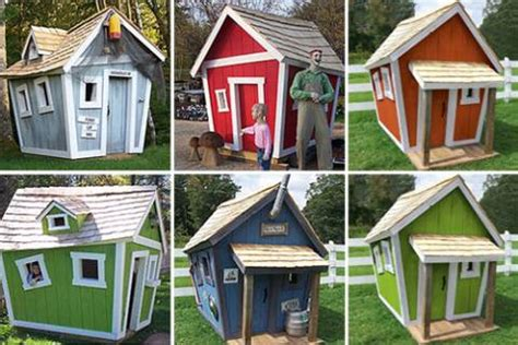 kids crooked playhouse plans plans diy  hanging