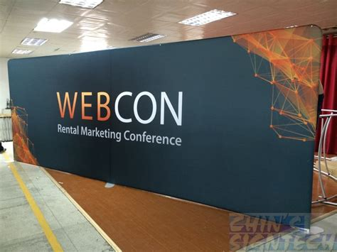 Backdrop Display by Tension Fabric Displays Weight Only 8 4kg For A 3 X 2 25m