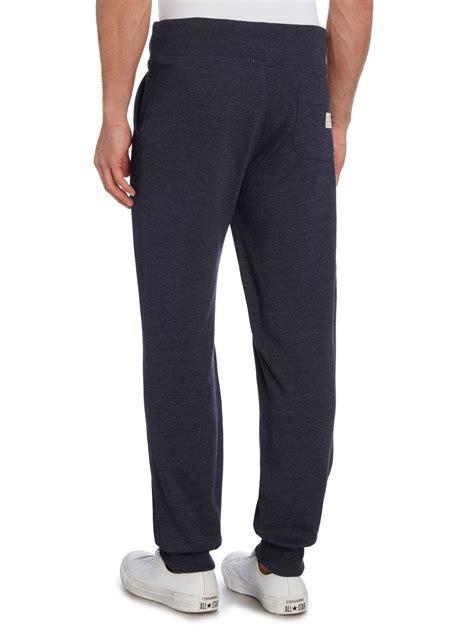 cuffed sweatpants for hilfiger cuffed sweatpants in blue for lyst