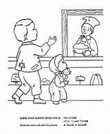 Coloring Cake Nursery Rhymes Pat Mother Goose Quiz Sheets Rhyme Printable Bluebonkers Popular sketch template