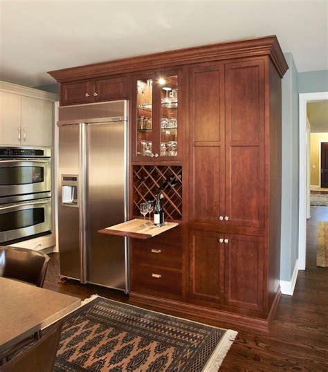 hidden wine rack transitional kitchen kristin petro