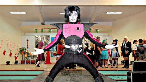 ukie cosplays mettaton   undertale youtube