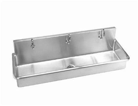 wall hung stainless steel sinks stainless steel wall hung 70in w multi station wash up sink