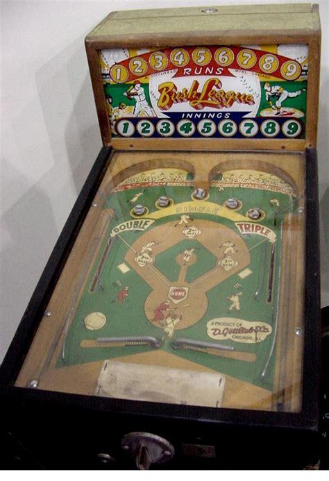 gottlieb bush league baseball  arcade pinball game