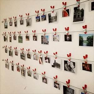 Fotos Aufhängen Ohne Rahmen Ideen : fotowand mit w scheklammern einrichtung pinterest fotow nde wandschmuck und klamotten ~ Bigdaddyawards.com Haus und Dekorationen