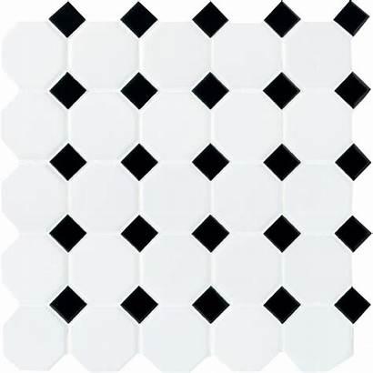 Tile Dot Mosaic Ceramic Daltile Matte Octagon