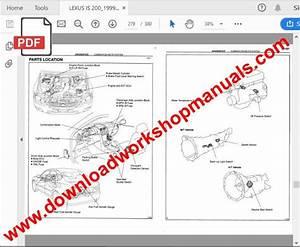Lexus Is 200 1998 To 2000 Service Repair Workshop Manual