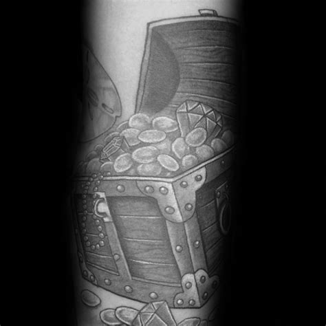 treasure chest tattoo designs  men valuable ink ideas
