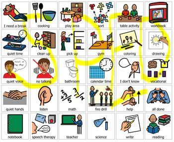 school pec symbols  communication system boardmaker pcs
