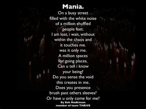 wonderland depression dream mania poetry  bek