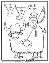 Letter Yo Yak Coloring Sheets Activity Preschool Crafts Activities Storybots Today Alphabet Sheet Pages Story Kindergarten Bots Craft Abc Worksheets sketch template