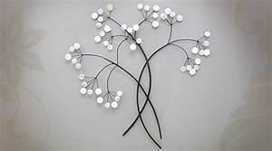 Decoration Murale Fleur : d coration murale en m tal grande fleurs aux p tales de nacre ~ Teatrodelosmanantiales.com Idées de Décoration