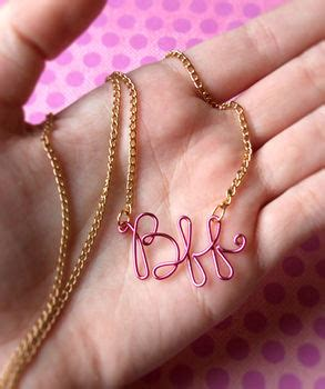 bff necklace     wire word necklace beadwork
