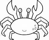 Lobster Cartoon Drawing Outline Coloring Getdrawings sketch template